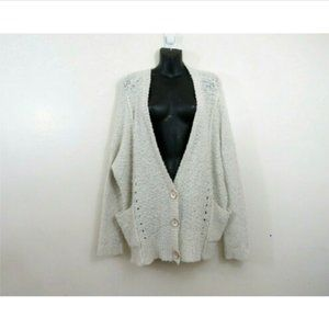 Free People Oversize Button Front Knit Cardigan